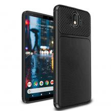 Силиконов калъф / гръб / TPU Hybrid за Nokia 5.1 Plus 2018 / Nokia X5 - черен / Ferilinso Carbon