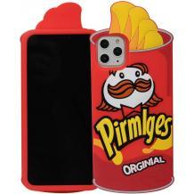 Силиконов калъф / гръб / TPU 3D за Apple iPhone 11 6.1'' - Pirmlges / червен