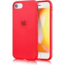 Силиконов калъф / гръб / TPU за Apple iPhone SE2 2020 - червен / лого