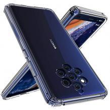 Ултра тънък силиконов калъф / гръб / TPU Ultra Thin за Nokia 9 Pure View - прозрачен