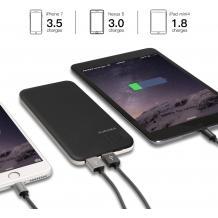 Луксозен твърд гръб / външна батерия / Battery Power Bank 5200mah за Apple iPhone X / iPhone XS - черен