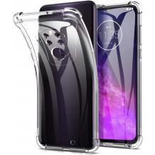 Удароустойчив силиконов калъф / гръб / TPU за Motorola One Zoom - прозрачен