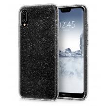 Силиконов калъф / гръб / TPU Bling за Huawei Y6 2019 - прозрачен / брокат