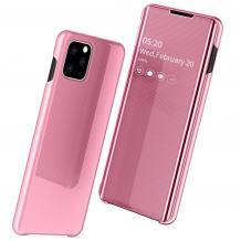 Луксозен калъф Clear View Cover с твърд гръб за Apple iPhone 11 Pro Max 6.5'' - Rose Gold