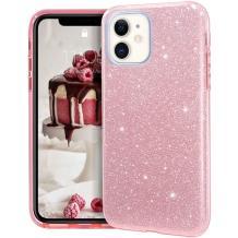 Силиконов калъф / гръб / TPU за Samsung Galaxy S10 Lite / A91 - розов / брокат