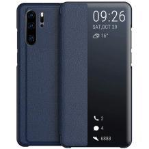 Луксозен калъф Smart View Cover за Huawei P30 Pro - тъмно син