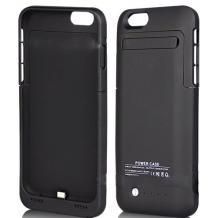 Твърд гръб / външна батерия / Battery power bank 3500mAh със стойка за Apple iPhone 6 4.7'' - черен цвят