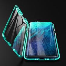 Магнитен калъф Bumper Case 360° FULL за Xiaomi Mi 9T - прозрачен / зелена рамка