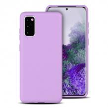 Луксозен силиконов калъф / гръб / Nano TPU за Samsung Galaxy A52 / A52 5G - светло лилав
