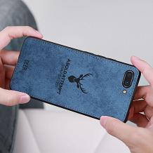 Луксозен гръб Deer за Apple iPhone 7 / iPhone 8 - син