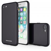 Силиконов калъф / гръб / Molan Cano Glossy Jelly Case за Apple iPhone 7 / iPhone 8 - черен / гланц / брокат