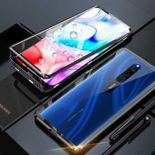 Магнитен калъф Bumper Case 360° FULL за Xiaomi Redmi 8 - прозрачен / черна рамка