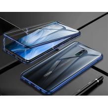 Магнитен калъф Bumper Case 360° FULL за Xiaomi Redmi 8 - прозрачен / синя рамка