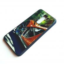 Луксозен стъклен твърд гръб за Xiaomi Redmi Note 8 Pro - оранжева кола