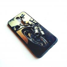 Луксозен стъклен твърд гръб за Xiaomi Redmi Note 8 Pro - мотор