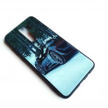 Луксозен стъклен твърд гръб за Xiaomi Redmi Note 8 Pro - зима / кола