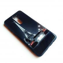 Луксозен стъклен твърд гръб за Xiaomi Redmi Note 8 Pro - Айфелова кула / кола
