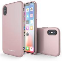 Силиконов калъф / гръб / Molan Cano Glossy Jelly Case за Apple iPhone XR - светло розов / гланц / брокат