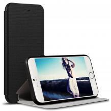 Луксозен кожен калъф Flip тефтер Sevenday's Breathing със стойка за Apple iPhone 7 Plus / iPhone 8 Plus - черен