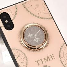 Луксозен гръб Tybomb Diamond с магнитна стойка и силиконов кант за Huawei P30 Lite - бежов