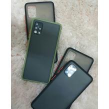 Луксозен твърд гръб със силиконов кант за Samsung Galaxy A71 – прозрачен мат / зален кант