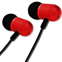 Универсални стерео слушалки XO-EP5 / Earphone 3.5mm - черно и червено