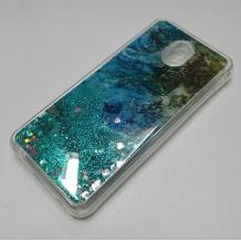 Луксозен силиконов калъф / гръб / tpu 3D Water Case за Xiaomi Redmi 8A - мрамор / зелен брокат