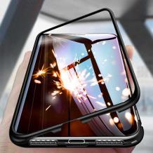 Магнитен калъф Bumper Case 360° FULL за Xiaomi Redmi Note 8T - прозрачен / черна рамка