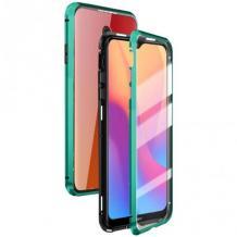 Магнитен калъф Bumper Case 360° FULL за Xiaomi Redmi Note 8T - прозрачен / зелена рамка