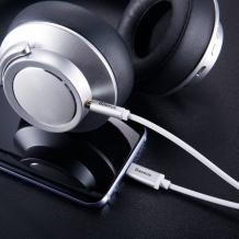 Оригинален аудио кабел BASEUS Yiven M01 Type-C към AUX 3.5mm - сребрист