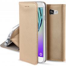 Кожен калъф Magnet Case със стойка за Huawei Honor 20 / Huawei Nova 5T - златист