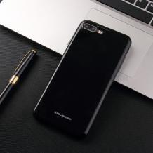 Силиконов калъф / гръб / Molan Cano Glossy Jelly Case за Apple iPhone 7 Plus / iPhone 8 Plus - черен / гланц / брокат