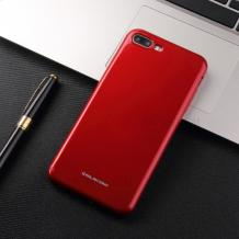 Силиконов калъф / гръб / Molan Cano Glossy Jelly Case за Apple iPhone 7 Plus / iPhone 8 Plus - бордо / гланц / брокат