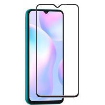 9D full cover Tempered glass Full Glue screen protector Motorola Moto G9 Play / Извит стъклен скрийн протектор с лепило от вътрешната страна за Motorola Moto G9 Play - черен