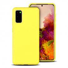 Луксозен силиконов калъф / гръб / Nano TPU за Samsung Galaxy A02s - жълт