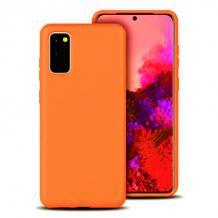 Луксозен силиконов калъф / гръб / Nano TPU за Samsung Galaxy A02s - оранжев