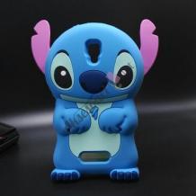 Силиконов калъф / гръб / TPU 3D за Lenovo A2010 - Stitch / Стич / син