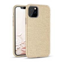 Силиконов калъф / гръб / TPU за Samsung Galaxy A31 - златист / брокат