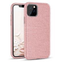 Силиконов калъф / гръб / TPU за Samsung Galaxy A31 - розов / брокат