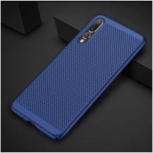 Луксозен твърд гръб за Xiaomi Redmi Note 7 - тъмно син / Grid