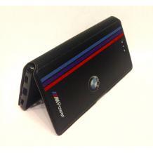 Кожен калъф Flip тефтер със стойка за Lenovo P70 - BMW / MPower / черен с червено