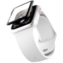 3D full PMMA glass Full Glue screen protector Apple Watch Series 44mm / Стъклен скрийн протектор с лепило от вътрешната страна за Apple Watch Series - черен