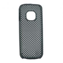 Заден предпазен капак Perforated style за NOKIA C1-01 - Черен