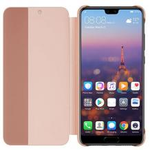 Луксозен калъф Smart View Cover за Huawei Mate 20 Lite - Rose Gold