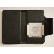 Универсален кожен калъф Flip тефтер Kalaideng Versal за Sony Ericsson Xperia X12 / Arc S  - черен / 3.8'' - 4.2''
