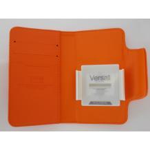 Универсален кожен калъф Flip тефтер Kalaideng Versal за Sony Ericsson Xperia X12 Arc LT15i  - оранжев / 3.8'' - 4.2''