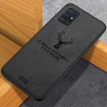 Луксозен гръб Deer за Samsung Galaxy A71 - черен