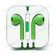 Стерео слушалки /Handsfree/ 3,5mm за Apple iPhone, Samsung Galaxy Note II N7100, Note 3, Galaxy S5, i9060, S7562, S7582, S6312, i9295, Samsung S4 i9505, Samsung galaxy S4 mini i9195, Samsung Galaxy Core Duos i8262, S3 i9300, I9100 S2, I9082 Grand - зелени