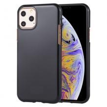 Луксозен силиконов калъф / гръб / TPU NORDIC Jelly Case за Apple iPhone 11 Pro Max - черен