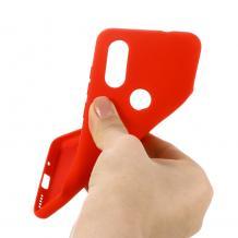 Луксозен силиконов калъф / гръб / Nano TPU за Samsung Galaxy A20s - червен